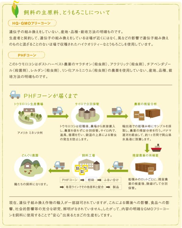 飼料の主原料、とうもろこしについて。Q・GMOフリーコーンとG.M.Oフリーコーン。